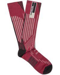 Prada - Jacquard-knit Socks - Lyst