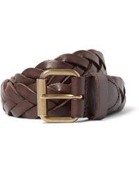J.Crew | 3cm Brown Woven Leather Belt | Lyst