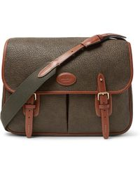 Mulberry - Heritage Leather-trimmed Pebble-grain Coated-canvas Messenger Bag - Lyst