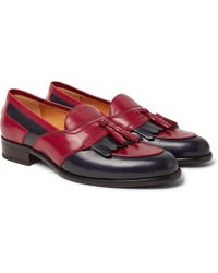 Gucci - Curtis Two-tone Leather Tasselled Kiltie Loafers - Lyst
