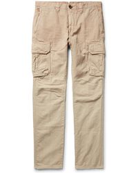 Incotex - Slim-fit Cotton And Linen-blend Cargo Trousers - Lyst