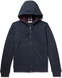 Burberry - Cotton-blend Jersey Zip-up Hoodie - Lyst