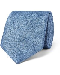 Richard James - 8cm Mélange Silk And Wool-blend Tie - Lyst