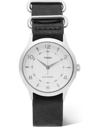 Timex - Whitney Village Stainless Steel And Leather Watch - Lyst