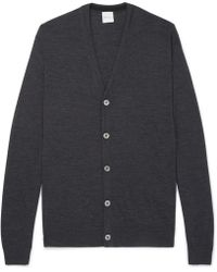 Paul Smith - Mélange Merino Wool Cardigan - Lyst