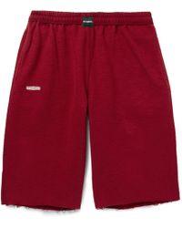Vetements - Wide-leg Cotton-blend Fleece Shorts - Lyst
