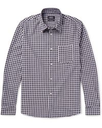 A.P.C. - Victor Checked Cotton Oxford Shirt - Lyst