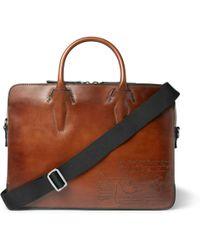 Berluti - Profile Mini Scritto Leather Briefcase - Lyst