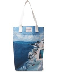 Orlebar Brown - Argyle Printed Canvas Tote Bag - Lyst
