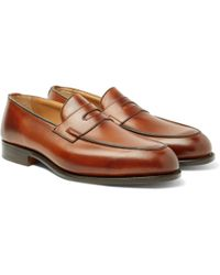 Tricker's | Blair Burnished-leather Penny Loafers | Lyst