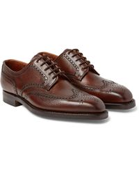 Henry Pebble-grain Leather Wingtip Brogues George Cleverley bQ1ols