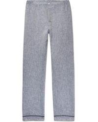 Sleepy Jones | Marcel Slub Linen Pyjama Trousers | Lyst
