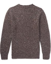 Anderson & Sheppard | Donegal Wool And Cashmere-blend Sweater | Lyst