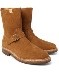 Visvim - Folk Brushed-suede Boots - Lyst