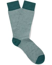 Pantherella - Dalby Patterned Cotton-blend Lisle Socks - Lyst