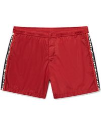 Moncler - Mid-length Grosgrain-trimmed Swim Shorts - Lyst