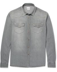 Brunello Cucinelli - Slim-fit Washed-denim Western Shirt - Lyst
