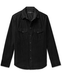 d787ad1d Rag & Bone - Beck Garment-dyed Cotton-corduroy Western Shirt - Lyst