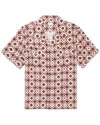 You As - Arlo Camp-collar Printed Twill Shirt - Lyst