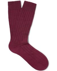 Pantherella - Ribbed Cashmere-blend Socks - Lyst