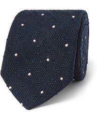 Richard James - 8cm Polka-dot Silk-shantung Tie - Lyst