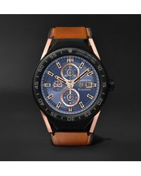 Kingsman x TAG Heuer - + Tag Heuer Connected Modular 45mm Ceramic And Leather Smart Watch - Lyst