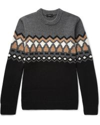 Theory - Rueda Fair Isle Merino Wool Jumper - Lyst