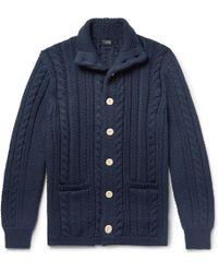 J.Crew | Cable-knit Cotton Cardigan | Lyst