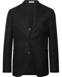 Boglioli - Black K-jacket Slim-fit Unstructured Wool-hopsack Blazer - Lyst