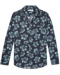 Desmond & Dempsey - Victor Printed Cotton Pyjama Shirt - Lyst