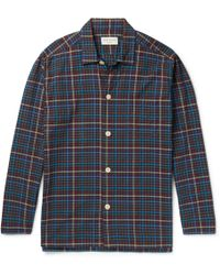 Oliver Spencer - Checked Cotton Pyjama Shirt - Lyst