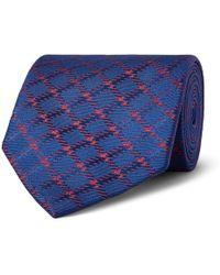 Charvet - 8.5cm Checked Silk-jacquard Tie - Lyst