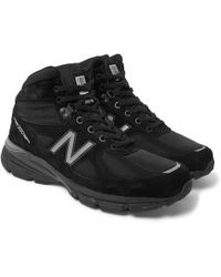 New Balance - 990v4 Suede And Mesh High-top Sneakers - Lyst
