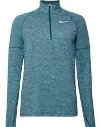5283169e2 Nike Dri-fit Element Half-zip Sweat In Black 683485-010 in Black for ...