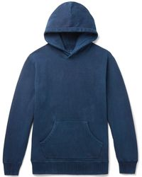 Blue Blue Japan - Fleece-back Cotton-jersey Hoodie - Lyst