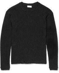 Fanmail - Slim-fit Waffle-knit Organic Cotton Sweatshirt - Lyst