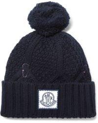 Moncler Gamme Bleu - Cable-knit Virgin Wool Bobble Hat - Lyst