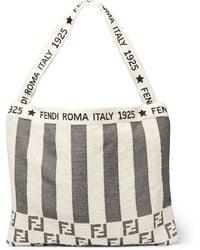 Fendi - Convertible Logo-jacquard Cotton-blend Terry Tote Bag - Lyst