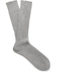 Tom Ford - Ribbed Cotton Socks - Lyst
