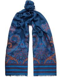 Etro - Wool-blend Jacquard Scarf - Lyst