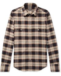 Tom Ford - Micky Checked Cotton-flannel Shirt - Lyst
