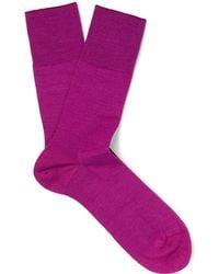 Falke - Airport Virgin Wool-blend Socks - Lyst