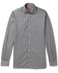 Isaia - Checked Cotton Shirt - Lyst