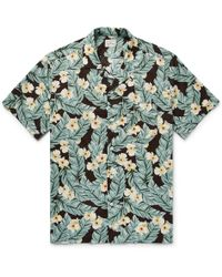 J.Crew | Camp-collar Printed Slub Cotton Shirt | Lyst