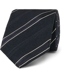 Kingsman - + Drake's 8cm Striped Textured-silk Tie - Lyst