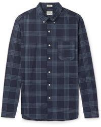 J.Crew - Button-down Collar Checked Cotton-blend Shirt - Lyst