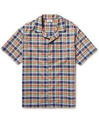 Sleepy Jones - Henry Madras-checked Cotton Pyjama Shirt - Lyst