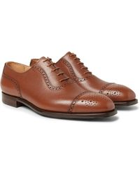 ae0bb5e7285 George Cleverley - Adam Full-grain Leather Oxford Brogues - Lyst