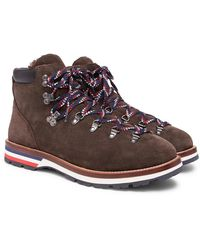 Moncler - Peak Shearling-lined Suede Boots - Lyst