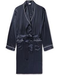 Zimmerli - Piped Silk-satin Robe - Lyst